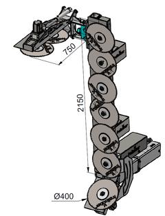 Technische Zeichnung Obstbaumschneider Kompakt